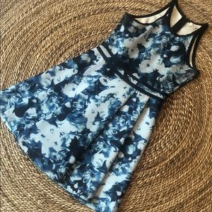 Parker Blue Floral Mini Dress